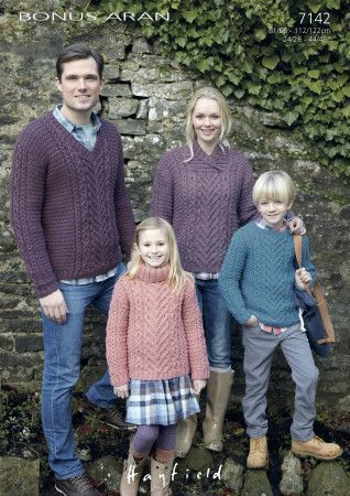 Sweaters in Hayfield Bonus Aran (7142)