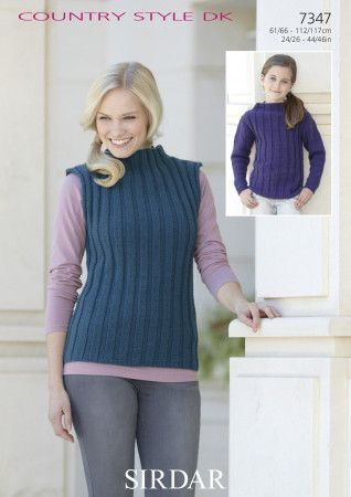 Sweater and Top in Sirdar Country Style DK (7347)