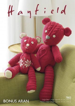 Patchwork Bears in Hayfield Bonus Aran (7802)
