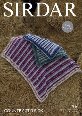Blankets in Sirdar Country Style DK (7826)