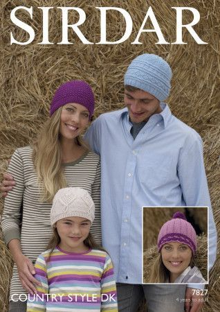 Hats in Sirdar Country Style DK (7827)