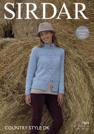 Jacket in Sirdar Country Style DK (7829)