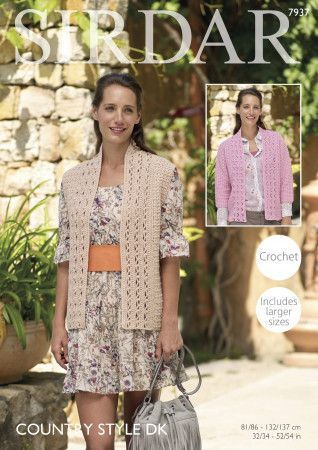 Jacket and Waistcoat in Sirdar Country Style DK (7937)