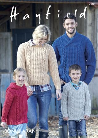 Sweaters in Hayfield Bonus Aran (7986)
