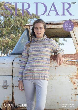 Sweater in Sirdar Crofter DK (8007)