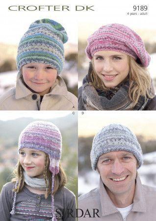 Hats in Sirdar Crofter DK (9189)