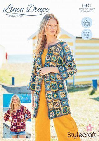 Cardigan and Sweater in Stylecraft Linen Drape DK (9631)