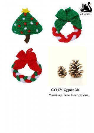 Miniature Tree Decorations Pattern in Cygnet DK (CY1271)