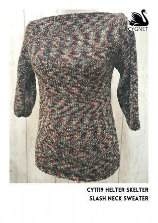 Sweater in Cygnet Helter Skelter Chunky (CY1119)
