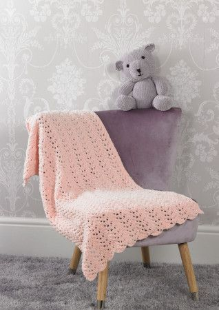 Teddy and Blanket in James C Brett Flutterby Chunky (JB526)