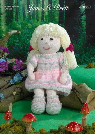 Doll in James C Brett Crafter DK (JB680)