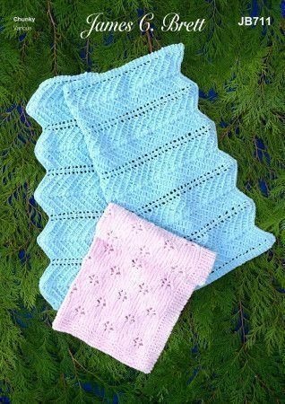 Blankets in James C.Brett Flutterby Chunky (JB711)