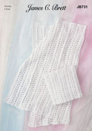Blankets in James C.Brett Flutterby Chunky (JB731)