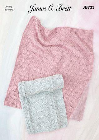 Blankets in James C.Brett Flutterby Chunky (JB733)