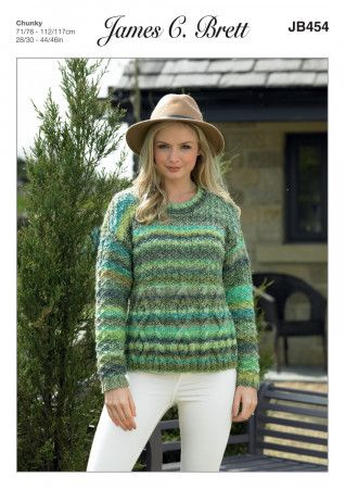 Sweater in James C. Brett Marble Chunky (JB454)