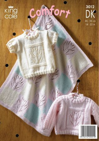 Sweaters and Blanket in King Cole Comfort Baby DK (3012)