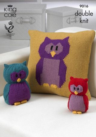 Owl Collection in King Cole Merino Blend DK (9016)
