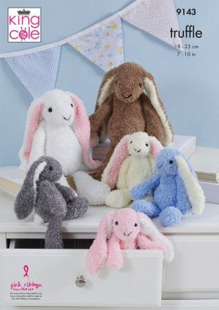 Rabbits in King Cole Truffle (9143)