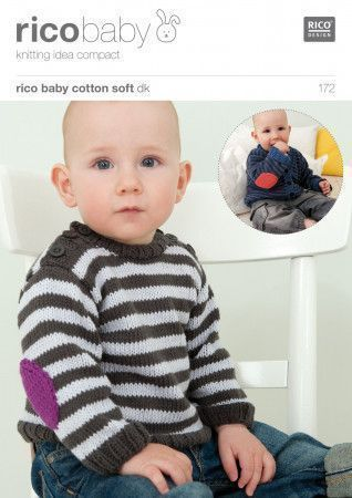 Cardigan and Jumper in Rico Baby Soft DK (172)