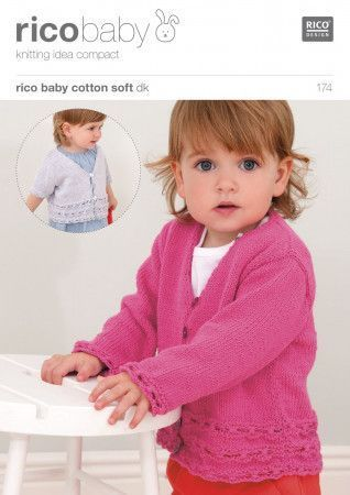 Cardigans in Rico Baby Cotton Soft DK (174)