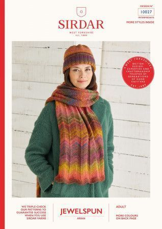 Scarf and Hat in Sirdar Jewelspun (10027)