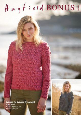 Sweater in Hayfield Bonus Aran and Bonus Aran Tweed with Wool (10074)