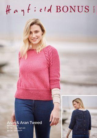 Top in Hayfield Bonus Aran and Bonus Aran Tweed with Wool (10075)