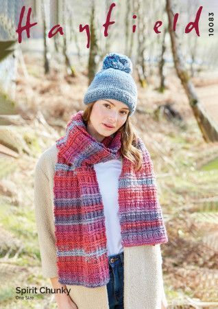 Scarf and Hat in Hayfield Spirit Chunky (10083)