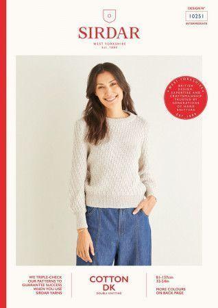 Sweater in Sirdar Cotton DK (10251)