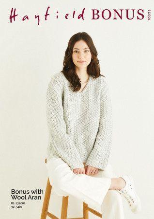 Sweater in Hayfield Bonus Aran With Wool (10323)
