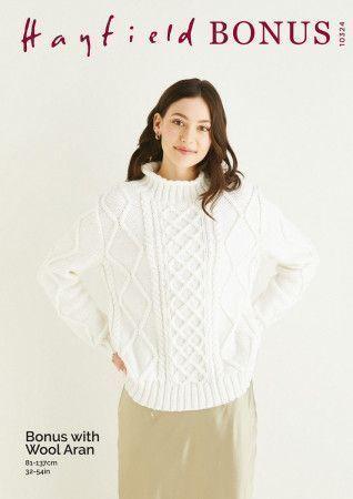 Sweater in Hayfield Bonus Aran With Wool (10324)