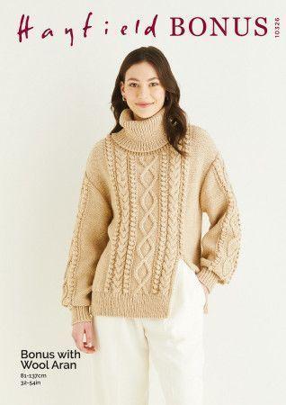 Sweater in Hayfield Bonus Aran With Wool (10326)