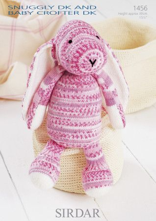 Bunny in Sirdar Snuggly DK and Snuggly Baby Crofter DK (1456)