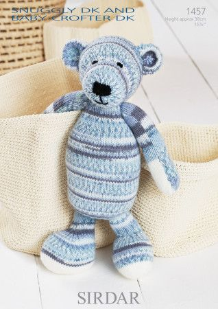 Bear in Sirdar Snuggly DK and Snuggly Baby Crofter DK (1457)