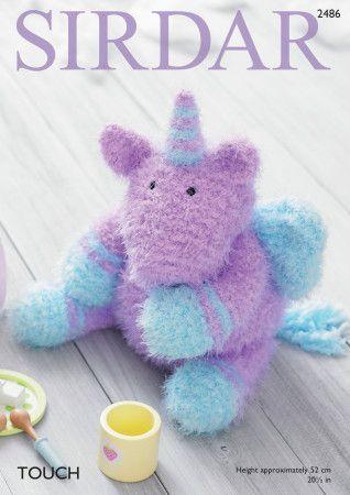 Toy Unicorn in Sirdar Touch (2486)