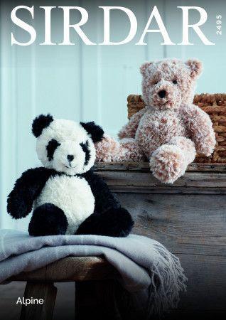 Panda and Teddy Bear in Sirdar Alpine (2945)
