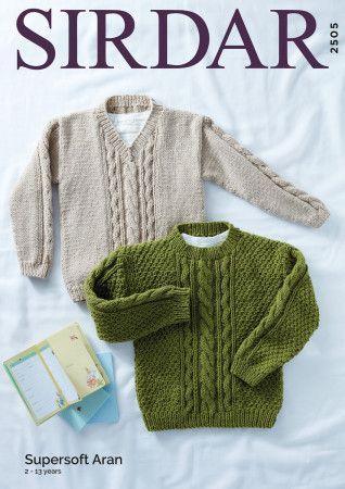 Sweaters in Sirdar Supersoft Aran (2505)