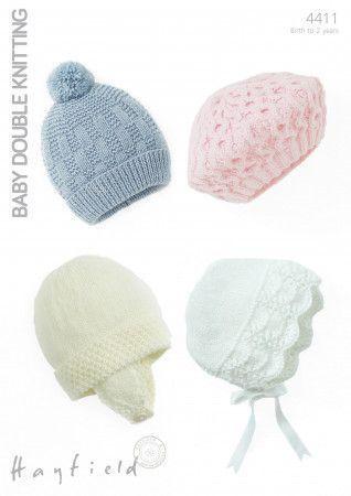 Baby's Hats in Hayfield Baby DK (4411)
