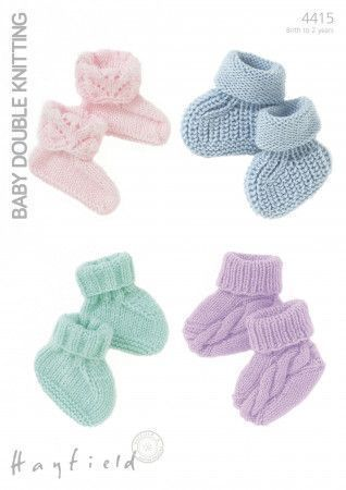 Bootees in Hayfield Baby Dk (4415)