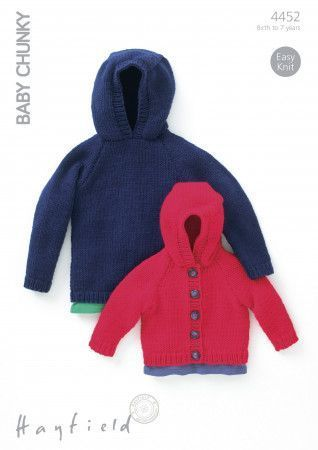 Sweater and Jacket in Hayfield Baby Chunky (4452)