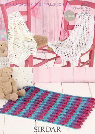 Blankets in Sirdar Snuggly Pearls DK (4546)