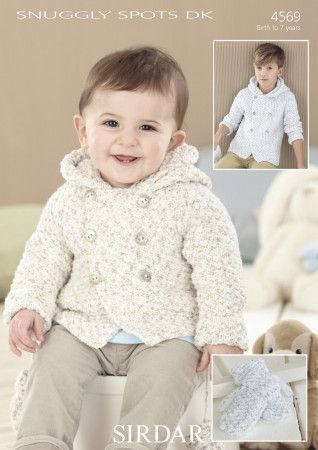 Coat and Mittens in Sirdar Snuggly Spots DK (4569)