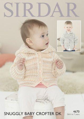 Jackets in Sirdar Snuggly Baby Crofter DK (4670)
