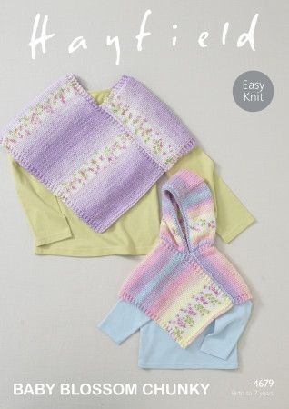 Ponchos in Hayfield Baby Blossom Chunky (4679)