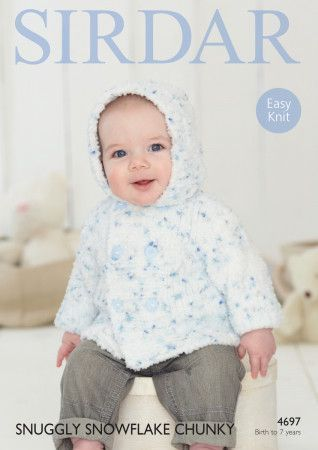 Jacket in Sirdar Snuggly Snowflake Chunky (4697)