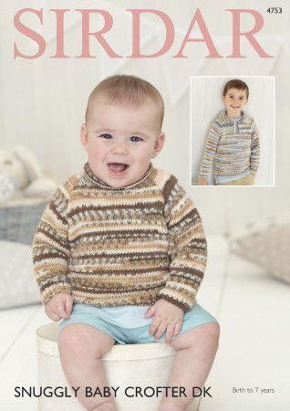 Sweaters in Sirdar Snuggly Baby Crofter DK (4753)