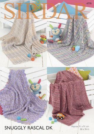 Blankets in Sirdar Snuggly Rascal DK (4770)