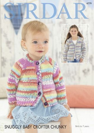 Cardigans in Sirdar Snuggly Baby Crofter Chunky (4779)