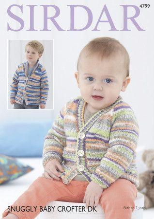 Cardigans in Sirdar Snuggly Baby Crofter DK (4799)