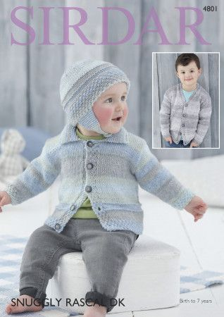 Cardigan and Helmet in Sirdar Snuggly Rascal DK (4801)
